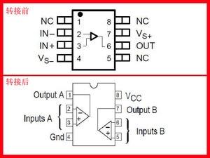 Image 5 - SOP8 Patch Enkel op amp conversie DIP8 dual Operationele versterker DIY vergulde lassen board IC chip transformatie board