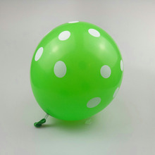 Green wave point balloon 50pcs/lot12 inch  round latex inflatable helium ballon happy birthday decorations kids balloons wedding