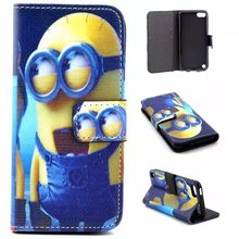 Flip Leather Case Cover for Apple IPod Touch 5 Generation / Touch 6 Case Cover Wallet