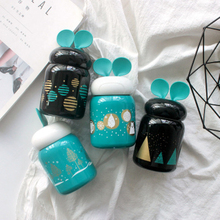 210ml Mini Rabbit Ears Lovely Pattern Printed Thermos Cup Portable Outdoor Vacuum Flasks Durable Stainless Steel Bottle