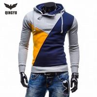 2017 Men Hoodies Hombre Male Brand Hip Hop Hoodie Color Stitching Sweatshirt Mens Hoodies Slim Fit