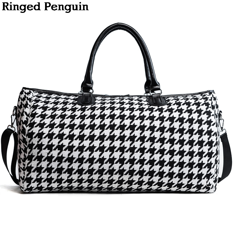 Ringed Penguin Women Travel Bags 2018 Fashion Large Capacity Waterproof Luggage Duffle Bag Casual Travel Bags