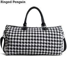 Ringed Penguin Женские сумки для путешествий 2018 Мода Большая емкость Водонепроницаемая сумка для багажа в случайном путешествии Сумки