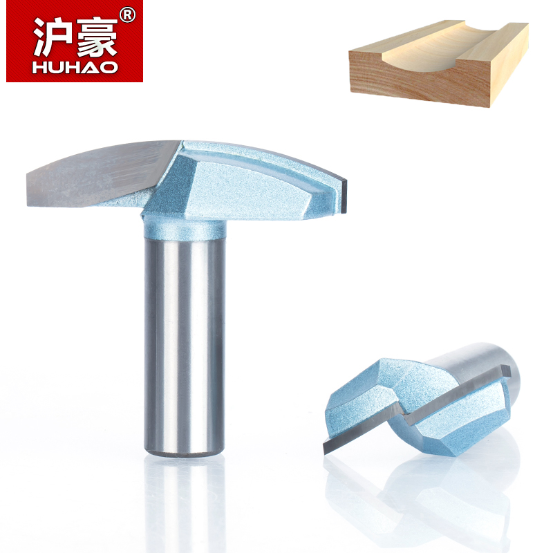 HUHAO 1pc 1/2 Shank Woodworking Industrial Grade Router Bits Thin Round Bowl Type Milling Cutter  Wood Cutting CNC Tool usb3 0 round type panel mounting usb connecter silver surface