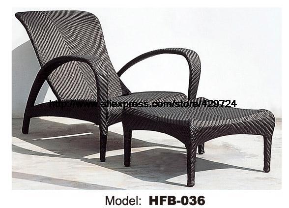 Outdoor Sun Lounger Chair Ottman Modern Rattan Lying Swing Pool Graden Beach Longue Hfb036