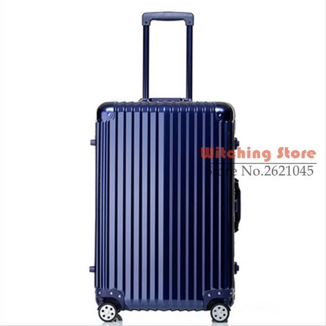 24 INCH  20242629# Pure fashion wear waterproof universal wheel aluminum box checked luggage suitcase #EC FREE SHIPPING