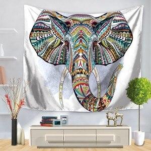 Image 5 - Tapisserie avec imprimé déléphant, Style indien, décoration murale, serviette de plage, Hippie, couverture de pique nique, pour dortoir