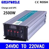 P2500 242 C 2500W pure sine wave inverter 24v 220v solar inverter voltage converter with charger and