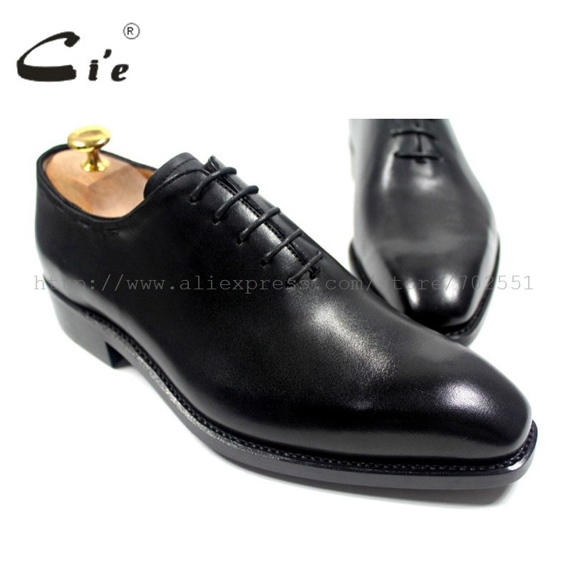 cie Free shipping bespoke custom handmade genuine calf leather upper outsole men's oxford shoe color black OX181 Goodyear welt