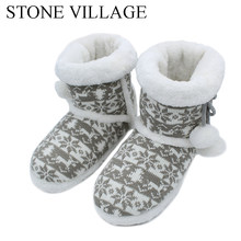 2018 New Knit Wool Soft Warm Winter Plush Slippers Soft Mute Home Slippers Cute Ball Women Slippers High Quality Indoor Shoes(China)