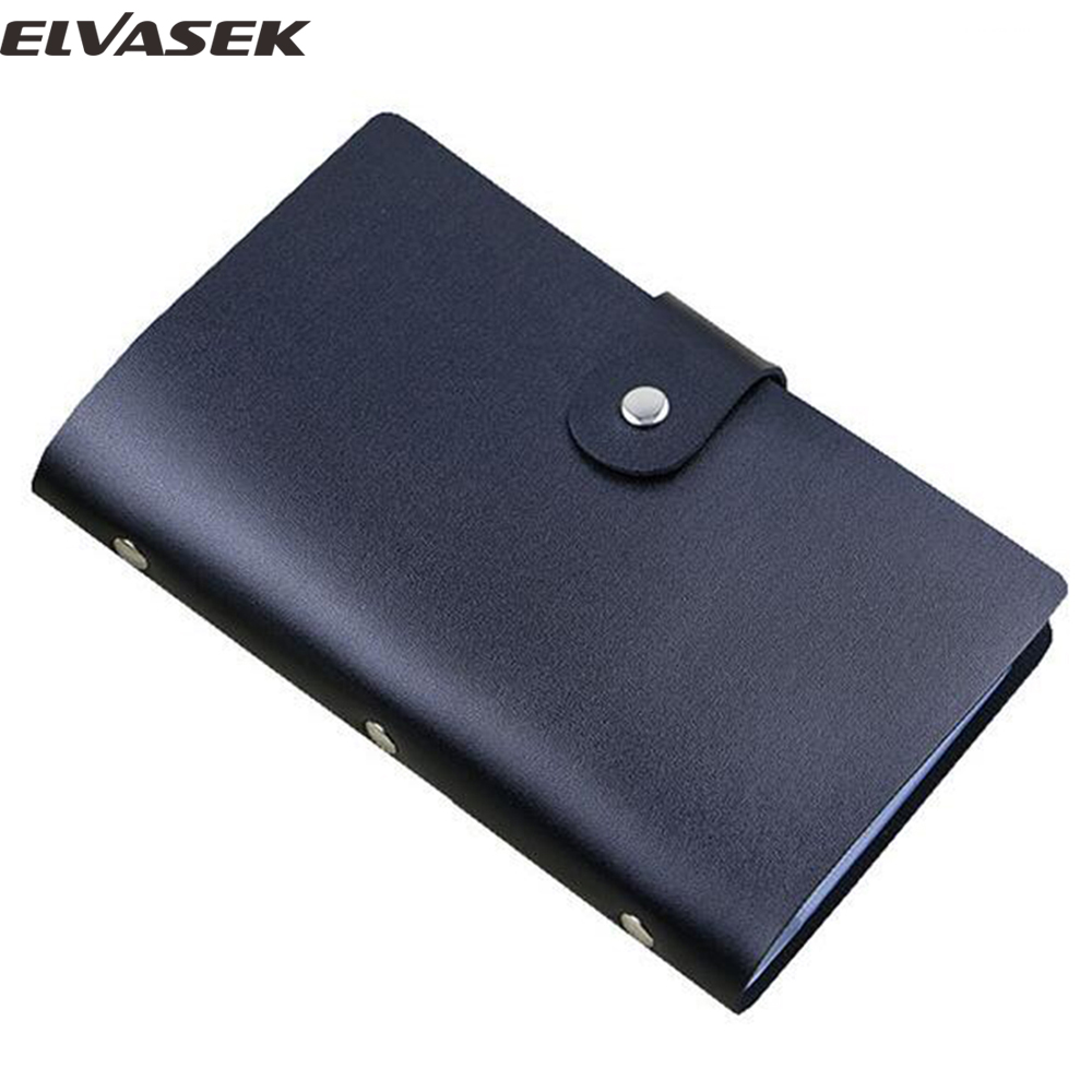 Elvasek free shipping fashion women id holders leather for Women business card holder