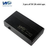 3 pieces of 5V 2A 4000mAh mini ups with lithium battery backup power supply mini ups for ip camera