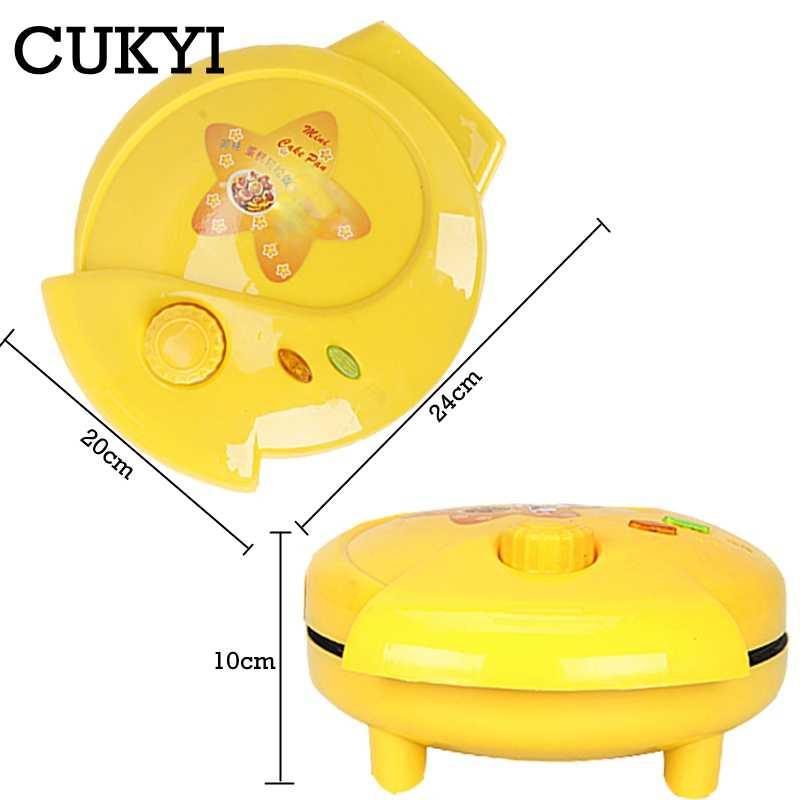 CUKYI الكرتون آلة الهراء ترقية القسم المنزلية التلقائي بالكامل ماكينة صنع الكعك الصغيرة الإفطار ماكينة صنع الكعك