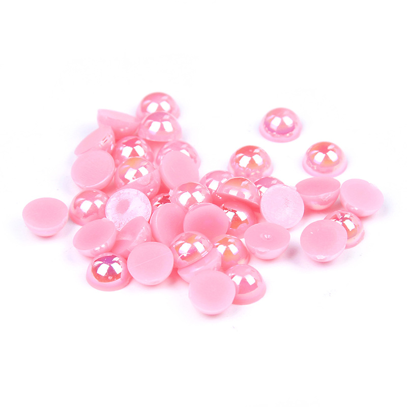 Beads Beads & Jewelry Making 1000/500pcs 2-5mm Mixed Sizes Dark Pink Ab Color Resin Half Round Pearl Beads Non Hotfix For Nails Art Backpack Diy Decoration