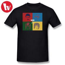 Queen T Shirt Band Rock T-Shirt Men - Hot Space Cartoon Print Shirts 2018 Summer Short Sleeve Male Funny Music Tee