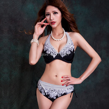 New arrival Classical 2014 E F G cup Floral prints bikini set big plus size mid