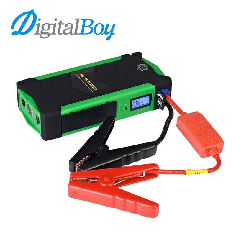 все цены на Car Jump Starter 18000mAh Smart Emergency Starting Device 600A Peak Power Bank 4 USB Car Charger for Car Battery Device Lighter онлайн