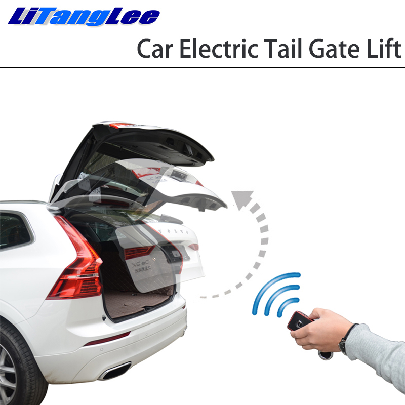 LiTangLee Car Electric Tail Gate Lift Tailgate Assist System For Land Rover Range Rover Velar L560 2017~2019 Control Trunk Lid