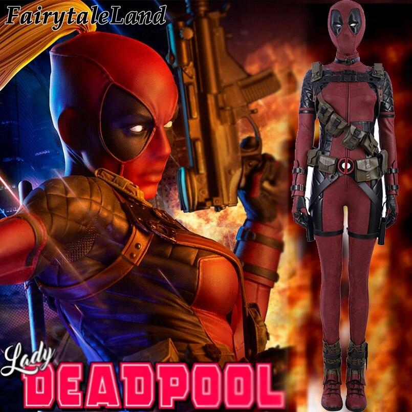 Lady Deadpool Cosplay Costume Carnival Halloween Superhero Costumes Fancy Costume Wanda Wilson Cosplay Deadpool Jumpsuit