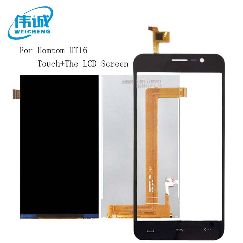 WEICHENG Tested Well For <font><b>Homtom</b></font> <font><b>HT16</b></font> LCD Display + Touch <font><b>Screen</b></font> Assembly Perfect Repair Part 5 inch +Free Tools image