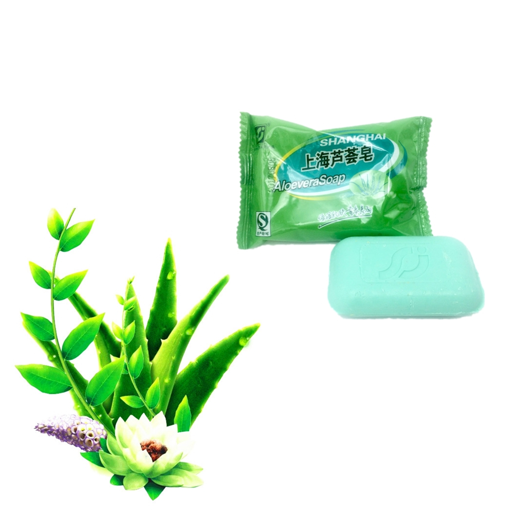 Natural ALOEVERA Essence Face Soap Cleanser Skin Care Whitening Firming Moisturizing Anti-wrinkle 85g