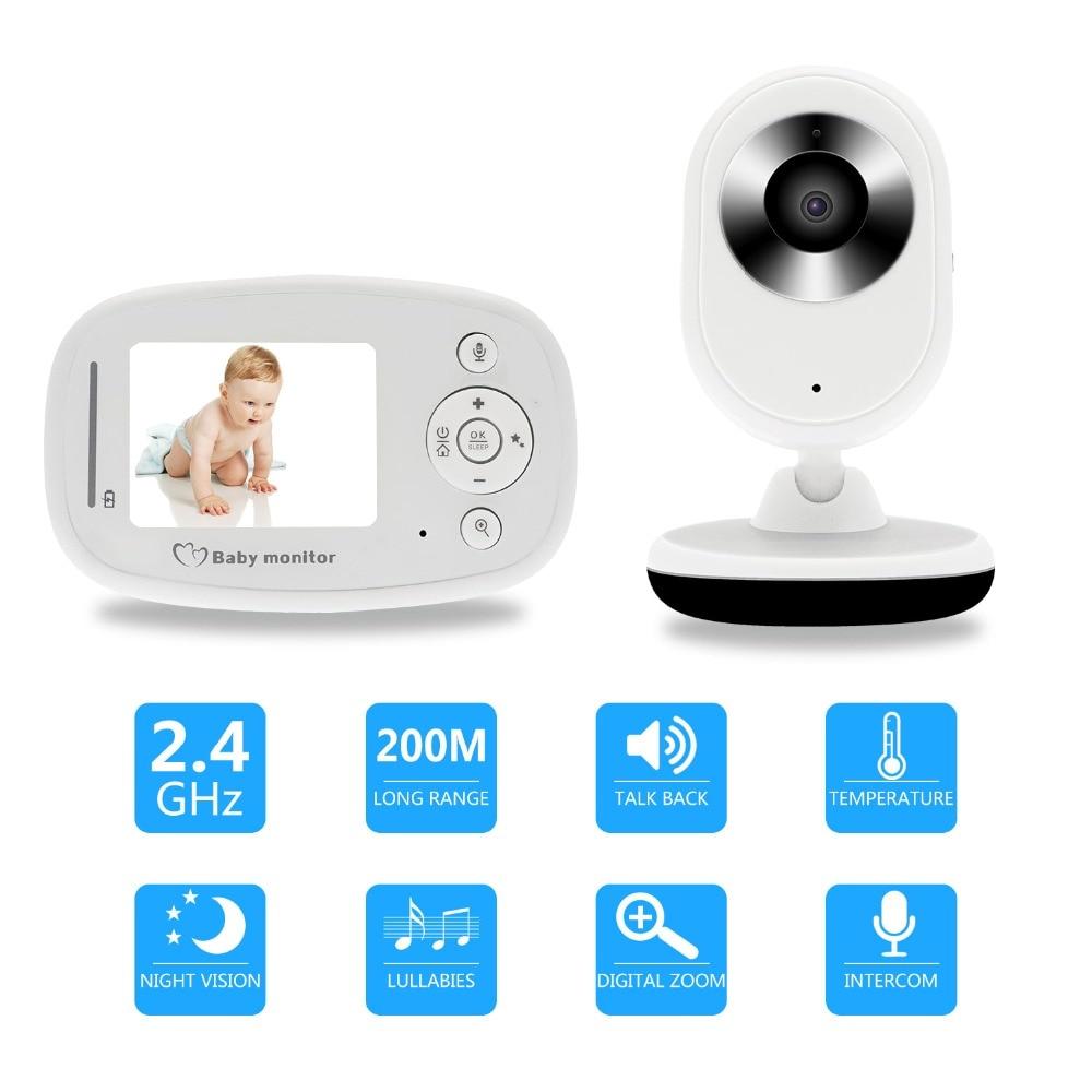 "2.4/""LCD Wirless Digital Video Baby Monitor Camera Night Vision Audio babyphone ."