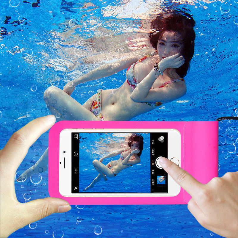 العالمي للماء الهاتف غطاء ل Blackview BV5500 ماكس 1 A20 برو A30 BV1000 BV5800 BV6800 برو BV9500 كيس مزموم السباحة حالة