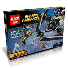 LEPIN 07019 Dc Hero Black Widow VS Super Man Building Block Minifigures Compatible with Legoe Brick Toy Christmas Gift