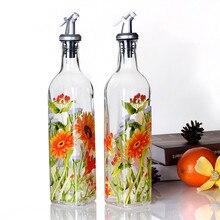 Nuevo frasco de vidrio de 500ml para especias a prueba de fugas vintage, frasco para salsa de soja, suministros de cocina, botella creativa para aceite vinagre