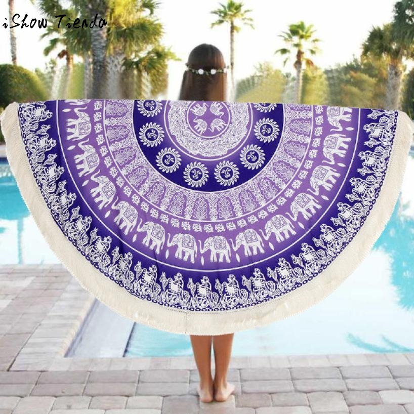 Drop Shipping Sunbath Beach Towels Round Beach Pool Home Shower Towel Blanket Table Cloth Yoga Mat Tunique Femme Telo Mare