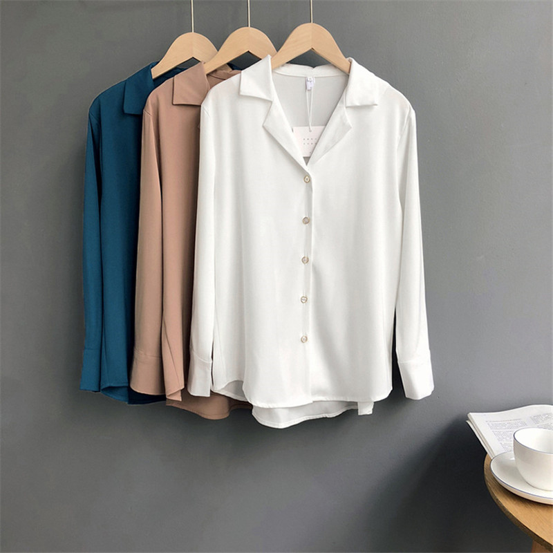 HIGH QUALITY White Working   Blouse     Shirt   For Women summer long sleeve white work wear formal tops female office clothing