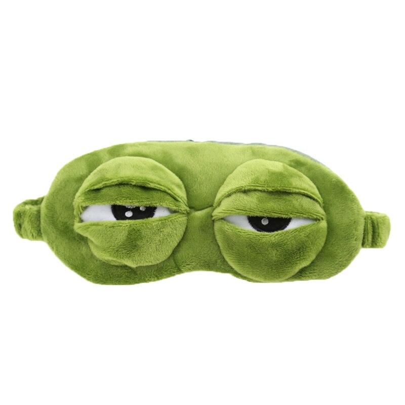 Men's Earmuffs Funny Creative Pepe The Frog Sad Frog 3d Eye Mask Cover Cartoon Plush Sleeping Mask Cute Anime Gift