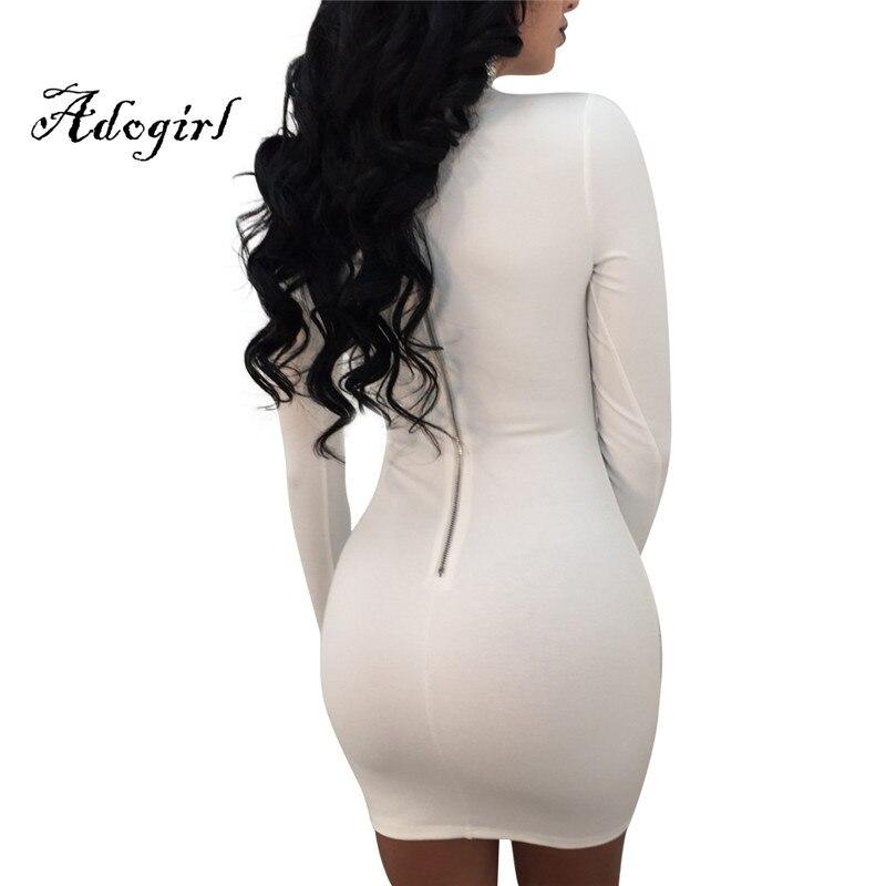... Adogirl 2018 Spring New Fashion Sexy Turtleneck Key Hole Sequins Long  Sleeves Bodycon Mini Club Dress ... 6997cbf4a30b