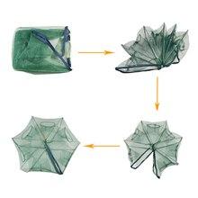 JOSHNESE Folded Portable Hexagon 6 Hole Automatic Fishing Shrimp Trap Fishing Net Fish Shrimp Minnow Crab Baits Cast Mesh Trap
