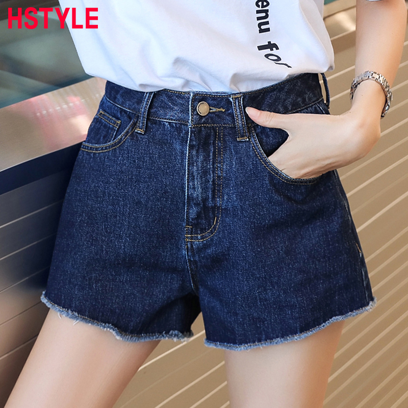 HSTYLE 2018 Summer Denim Shorts Women Korean Style Stretch Casual Basic Pocket Jeans Sho ...