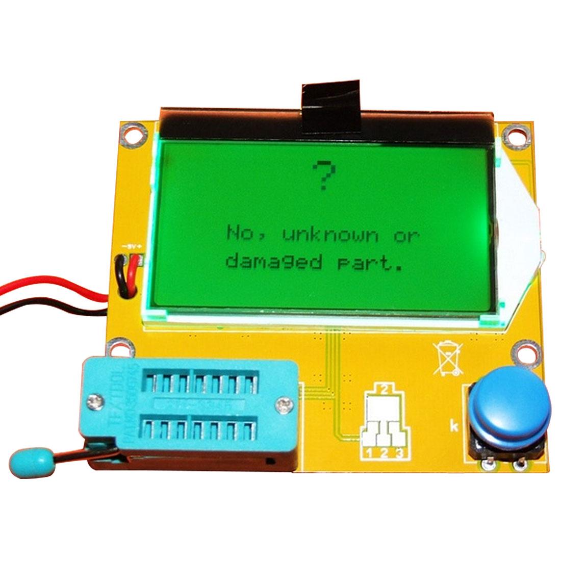 1 unid LCD Digital Transistor Tester medidor de M328 LCR-T4 retroiluminación de triodo capacitancia ESR Metro para controlador MOSFET/JFET/ PNP/NPN L/C/R