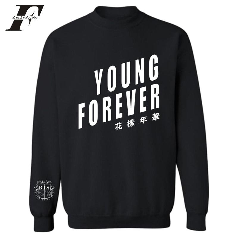 2017 BTS Kpop Fashion men Women Hoodies Sweatshirts Korean 4xl Bangtan Boys Fans Capless printed Hoodie Sweatshirt clothing