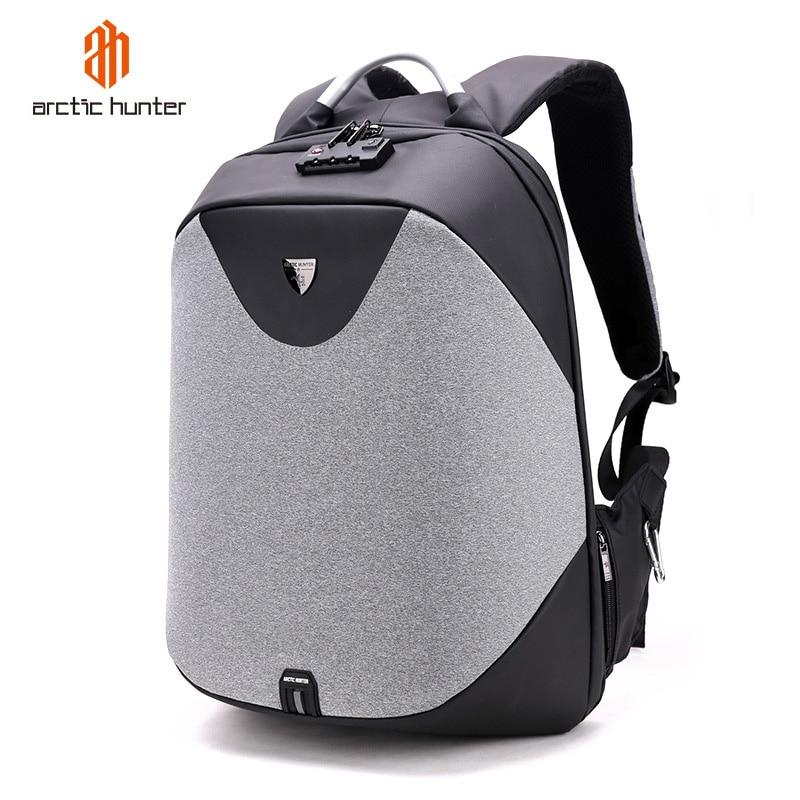 Sac à dos imperméable masculin de voyage de grande capacité chargeant la pochette d'ordinateur d'ordinateur d'affaires de sac à dos d'école des hommes d'anti vol