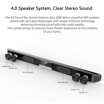 XGODY SR100 Plus Bluetooth Soundbar para TV Speaker sem fio Aux-In Coaxial Optical Subwoofer Home Theater grátis para países da UE 1