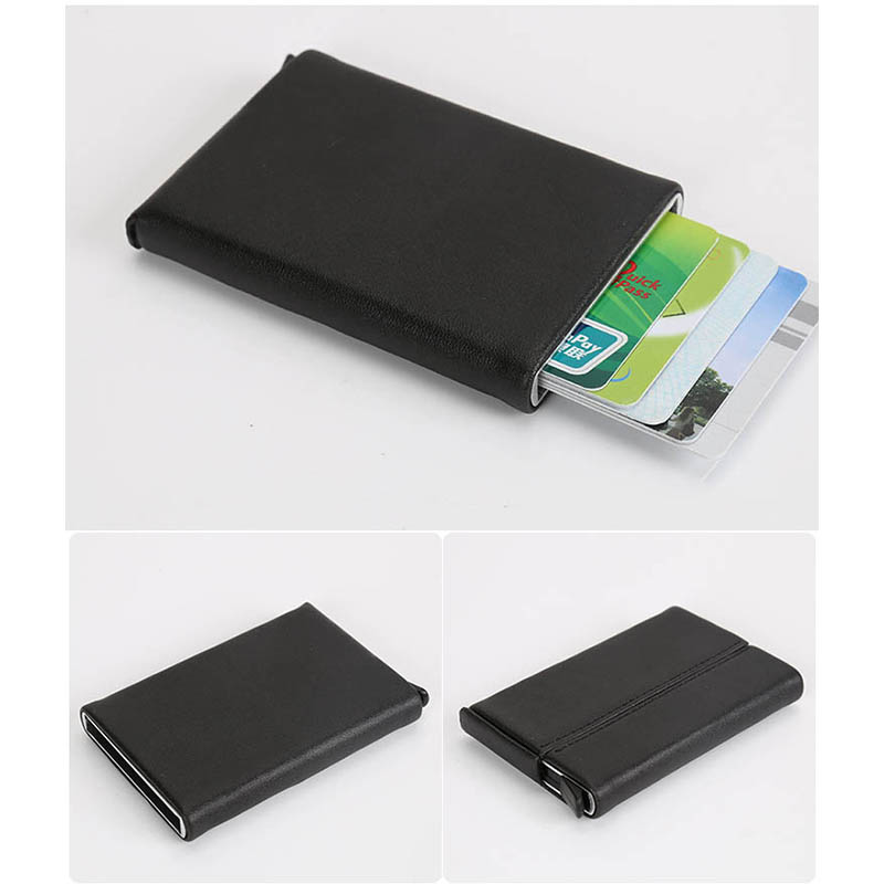 Prettyia Simple Metal Money Clip Wallets Men Slim RFID Blocking Card Holder Minimalist Bifold