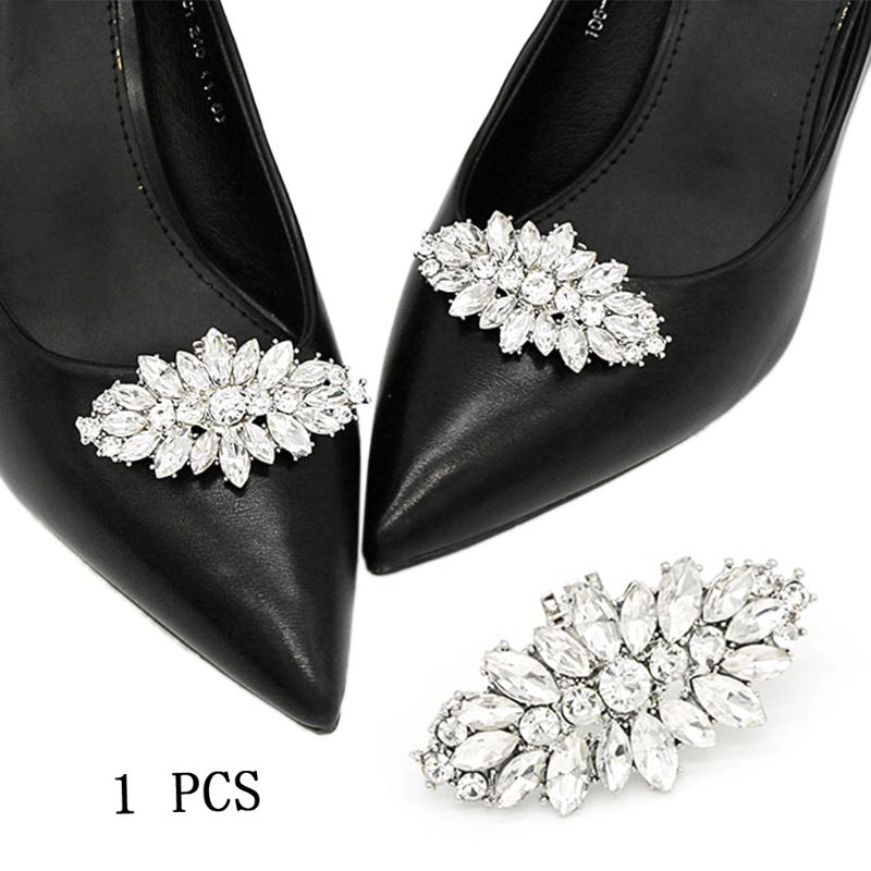 Fashion Shoe Clip DIY Rhinestone Decoration Women High Heels Bag Dress Hat Shoe Accessories Wedding Fashion Buckle Clips Elegant