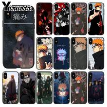 Yinuoda Naruto xiao pain Soft Silicone black Phone Case for iPhone 5 5Sx 6 7 7plus 8 8Plus X XS MAX XR(China)