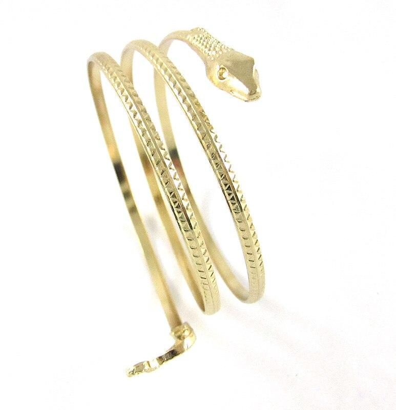 2017 new fashion punk coiled snake bracelet femme spiral upper arm cuff bangle bracelet armlet. Black Bedroom Furniture Sets. Home Design Ideas