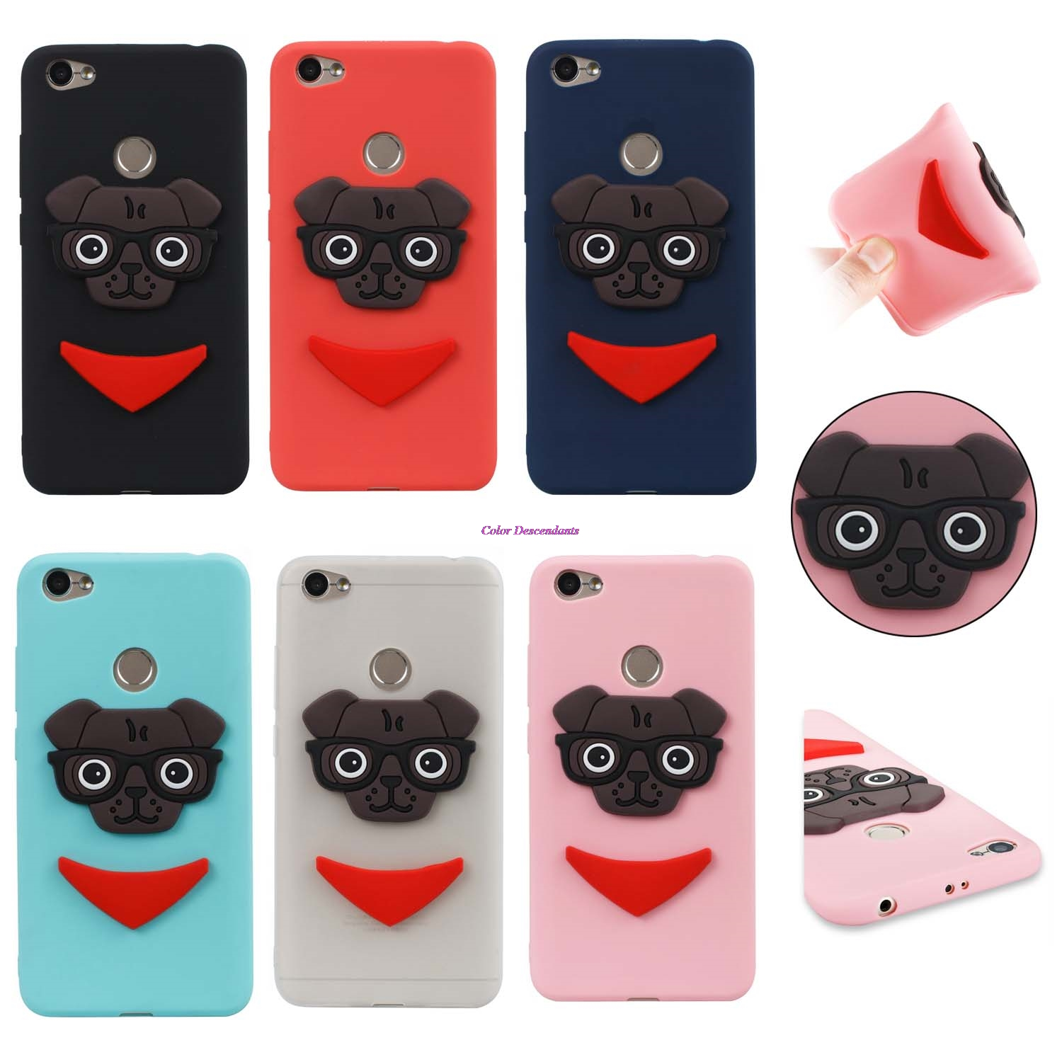 for fundas Xiaomi Redmi Note 5A Cute puppy 3D TPU Phone Case for Xiaomi Redmi Note 5A Red mi Note5A Silicone Cases RedmiNote5A in Phone Bumper from