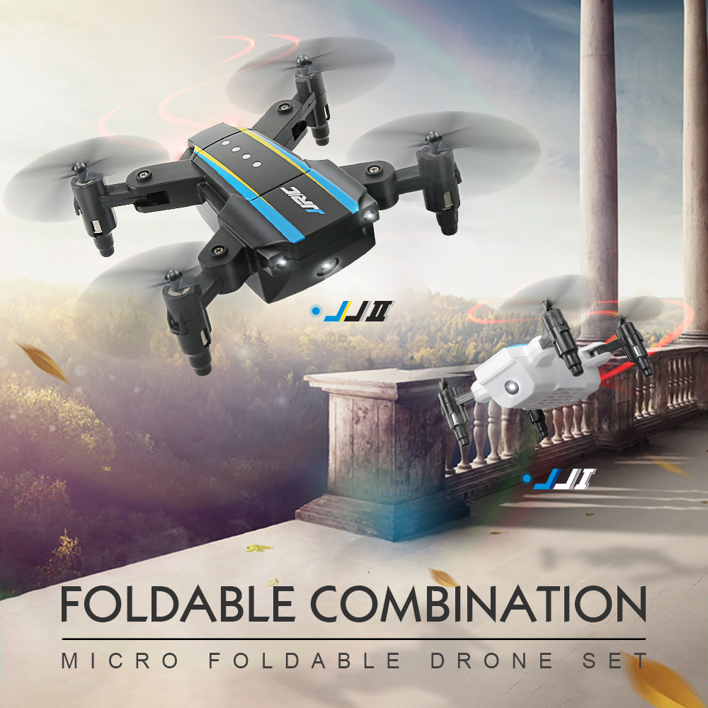 JJRC H345 four axis aircraft remote control aircraft double version one key return mini folding UAV interactive type kids' toys weili v252 genuine four aircraft with flashing lcd mini four rotor model airplane remote control toys