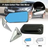 2Pcs Carbon Fiber Look Silver/Blue Universal Car Side Mirror Rearview mirror cover Auto Rear View Side Mirror Cover For most Car
