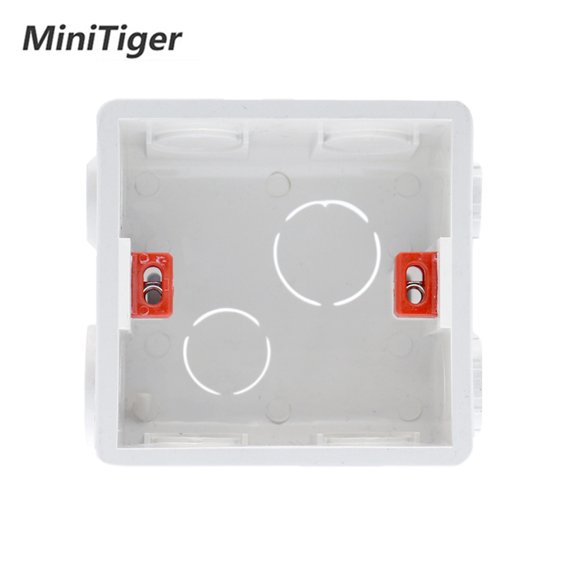 86mm x 86mm x 33mm White PVC Single Gang Mount Back Box for Wall Socket