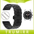 Cinta Faixa de Relógio de Aço inoxidável Quick Release 20mm 22mm para Breitling Pulseira Borboleta Fivela de Cinto Das Mulheres Dos Homens de Pulso Black Grey