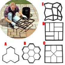 Garden DIY Plastic Path Maker Pavement Model Concrete Stepping Stone Cement Mould Brick can CSV(China)