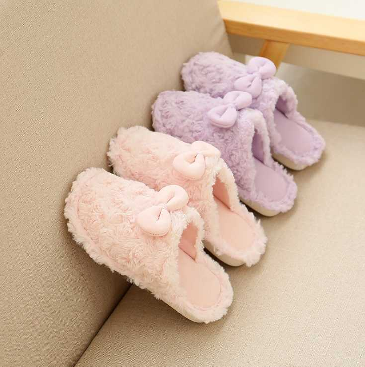 Children's cotton slippers 2018 new spring and autumn winter linen children parent-child home indoor slippers  size25--39